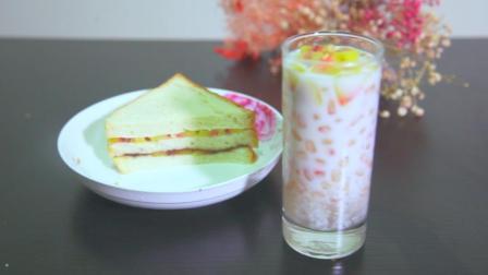 别喝豆浆了, 早餐来杯水果西米露, 做法简单又营养, 活力一整天