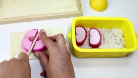 用太空沙制作美味的水果冰淇淋过家家玩具, 超有趣!