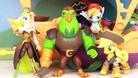 趣盒子玩具 第一季 小马宝莉大电影鹦鹉海盗船断臂鹦鹉水手超可动人仔分享