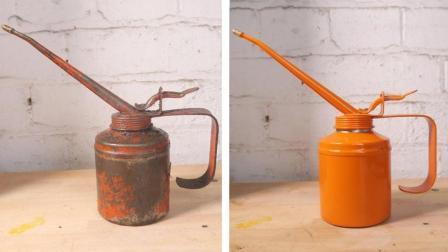 男子得到一个废旧的喷油壶, 分分钟将其翻新, 看着真是过瘾