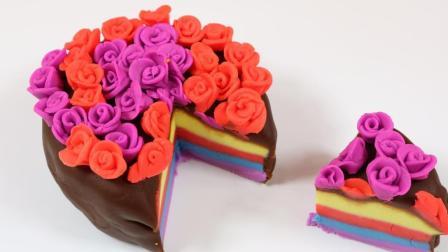 彩泥粘土制作手工蛋糕