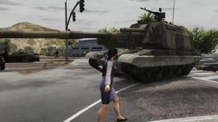 GTA5: 美女带你体验自行榴弹炮的威力