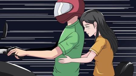 男子发现摩托车刹车失灵, 骗女友戴上头盔, 牺牲了自己!
