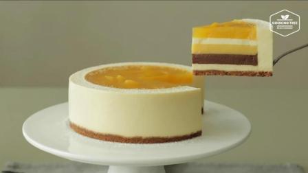 超治愈美食教程: 免烤 芒果芝士蛋糕 Mango Cheesecake