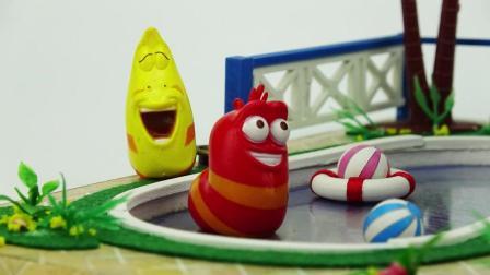 玩具学堂 2018 爆笑虫子海边别墅度假旅行 儿童益智过家家玩具故事