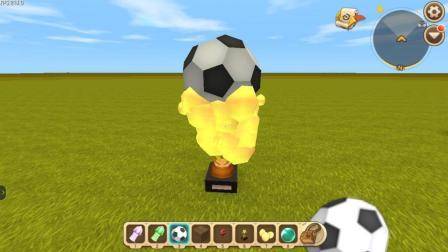 迷你世界: 制作喷香足球蛋糕教学! 不但好吃而又好看