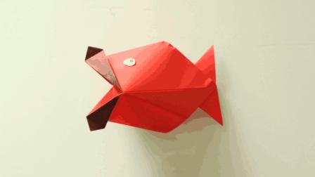 萌化了的3D大嘴鱼折纸, 简单易学, 幼儿园小朋友都可以学会
