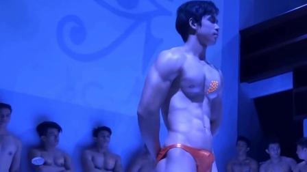 泰国肌肉男模选秀, 完美身材一览无余