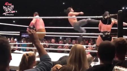 wwe中国 WWE中国上海站 圣盾三兄弟再一次团聚 轰炸全场