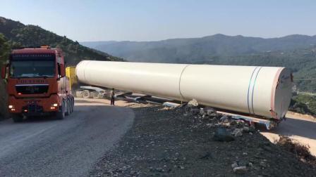 """这里的山路""""十八弯"""", 看看国外老司机们怎么运输风力涡轮机"""