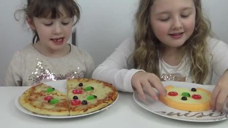 小朋友们认为橡皮糖披萨比真实披萨好吃哟