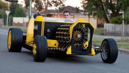 50万件积木搭建的汽车, 连发动机都是积木做的!