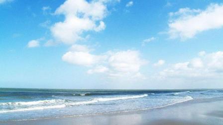 风景海边唯美, 满满的蓝天白云