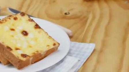 「私糖」美食: 超高人气美味甜品岩烧乳酪做法步骤视频, 这样做好吃