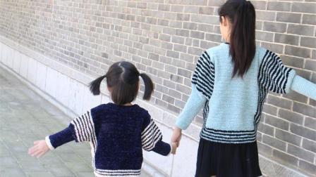 燕子编织-几何金丝绒毛衣