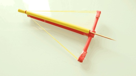 帅气的简易手弩折纸, 5张纸3分钟就可以做好, 手工折纸视频大全