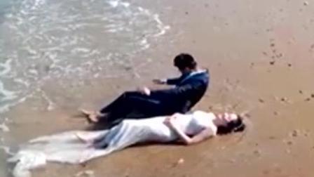 为了拍出像样的婚纱照, 媳妇也是费尽心机, 只是