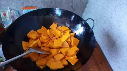 男人下厨房 湖北师傅炒南瓜的做法