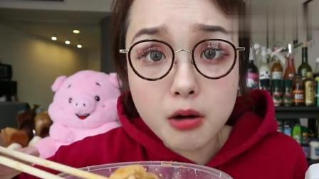 吃播大胃王: 上海小姐姐吃东北烤冷面和麦饼蛋饼