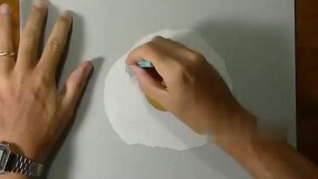 国外牛人手绘了一个煎蛋, 看得我都留口水了