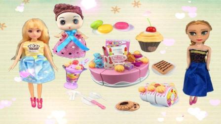 芭比娃娃Ammy的生日派对 你喜欢吃蛋糕吗?