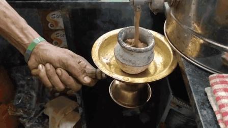 印度街头的传统茶馆, 号称比中国茶更有历史, 看