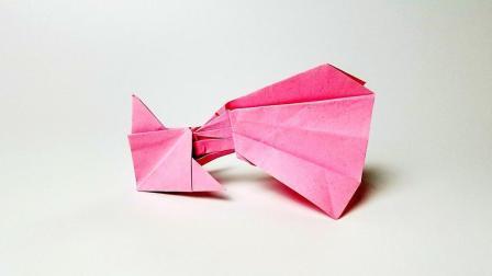 折纸王子教你折纸长尾金鱼灯, 简单易学, 动手动脑