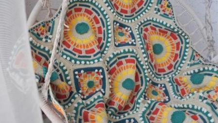 【金贝贝手工坊224辑】M145摩洛哥马赛克毯(一)毛线钩针编织宝宝毯空调毯盖塔编织的全部视频