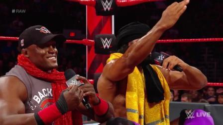 疯了! WWE凯文欧文斯回归! 袭击鲍比莱斯利.