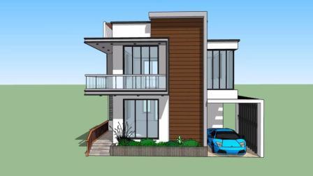 两层现代风格别墅 主体造价25万