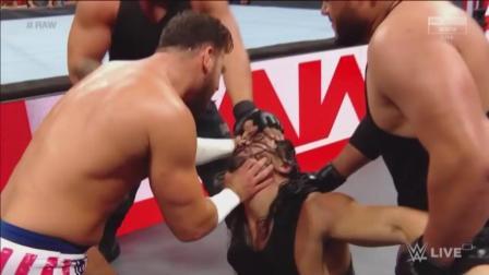 圣盾刚出场, 就让WWE后台选手给围殴了…