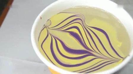 3分钟学会dy如何用水DIY大理石纹美甲-dy上海美甲店