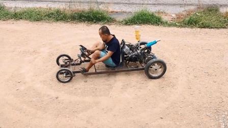 民间牛人自制的卡丁车, 性能确实厉害