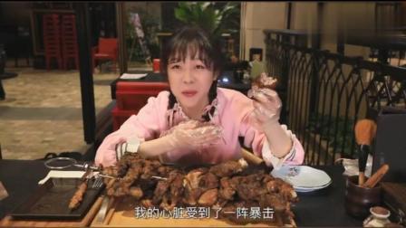 大胃王mini 哇! 好大呀! 超级大个羊肉串, 小仙女幸