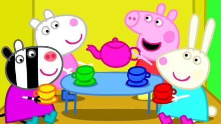小猪佩奇: 佩奇和乔治摘水果, 什么原因让猪妈妈哭笑不得呢?