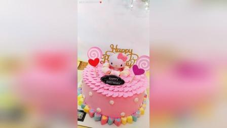 【kt猫蛋糕】kt猫蛋糕制作过程! !
