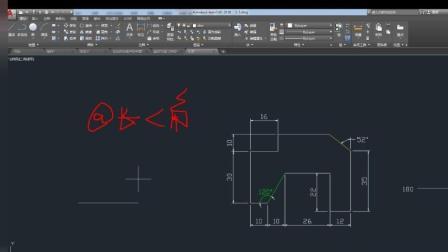 CAD2018基础: 斜线画法 角度算法 快速标注技法应用