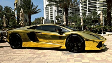 黄金跑车价值30亿, 开出去一次都是在浪费黄金?