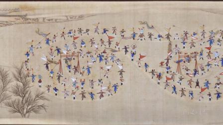 古代字画-合画冰嬉图.清张为邦.姚文瀚合笔.故宫博物院藏卷