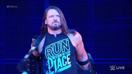 报应 WWE AJ VS 萨摩亚乔
