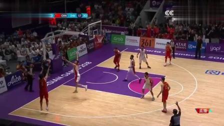 亚运会男篮决赛, 男篮勇士附身, 看男篮三分雨浇懵伊朗