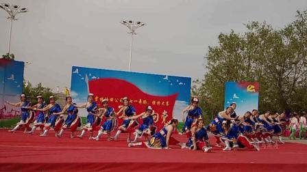松原油田舞蹈大赛蓝衣藏舞-舞动东北原创舞蹈视频正式篇536