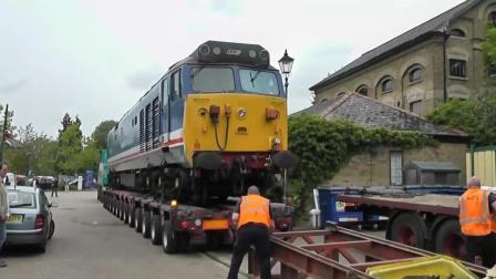 火车头卸车, 第一次见到火车的下车方式