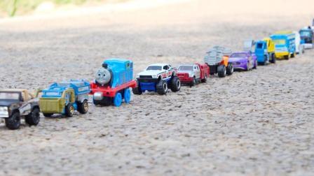 合金汽车工程车挖掘机越野车垃圾车运输车汽车模型玩具试玩