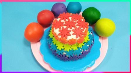 灵犀小乐园之美食小能手 花朵盛开的美丽蛋糕