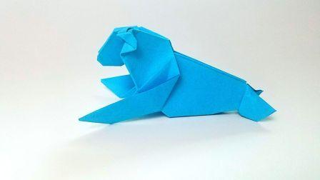 折纸王子教你折纸海豹,简单易学,动手动脑
