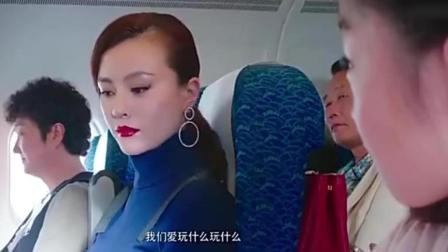 大叔飞机上教育小孩, 空姐劝了也不管用, 孩子妈