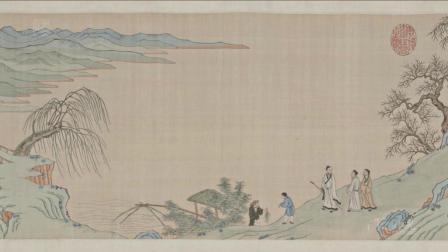 古代字画-后赤壁赋图卷.仇英绘.缂丝图卷.故宫博物院藏卷4k