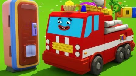 小汽车分享冰淇淋给朋友们