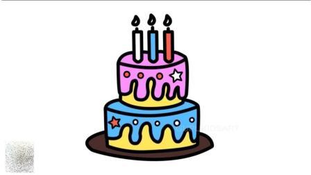 宝宝学画画  过生日怎么能没有自己画的生日蛋糕呢
